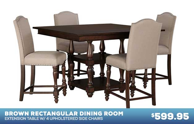 Baxenburg Dining Table with 4 Chairs
