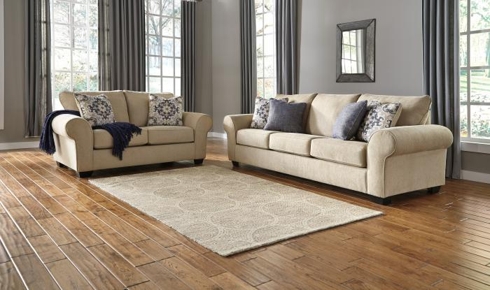 Denitasse Sofa & Loveseat,Woodstock Showcase