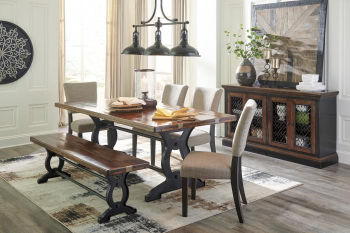 Zurani Dining Table & 4 Chairs,Woodstock Showcase