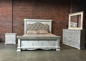 Nero White Queen Bed