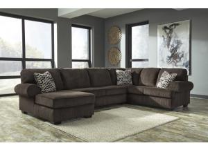 Jinllingsly Chocolate Left Facing Sectional