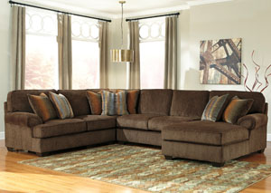 Denning Chocolate 3 PC. Sectional