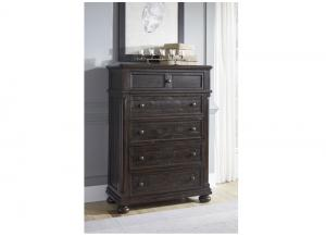 Gerlane Dark Brown Five Drawer Chest