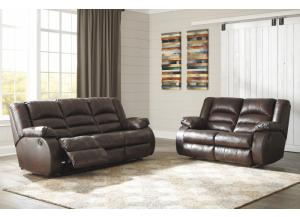 Levelland Cafe Reclining Sofa and Loveseat