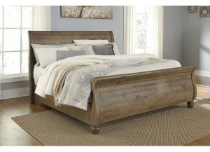 Trishley Light Brown California King Sleigh Bed