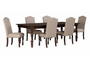 Baxenburg Rectangular Dining Room Extension Table w/4 Side Chairs