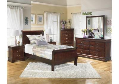 Alisdair Dark Brown Chest & Nightstand