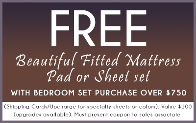 Free Beautiful Fitted Mattress Pad or Sheet Set