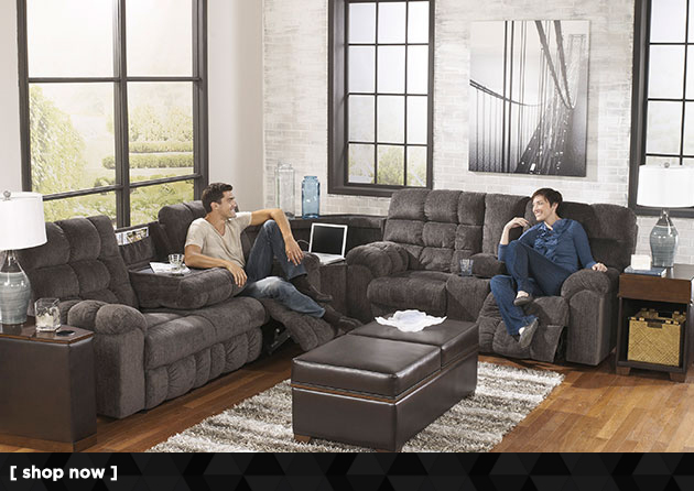 Acieona Slate Reclining Sectional