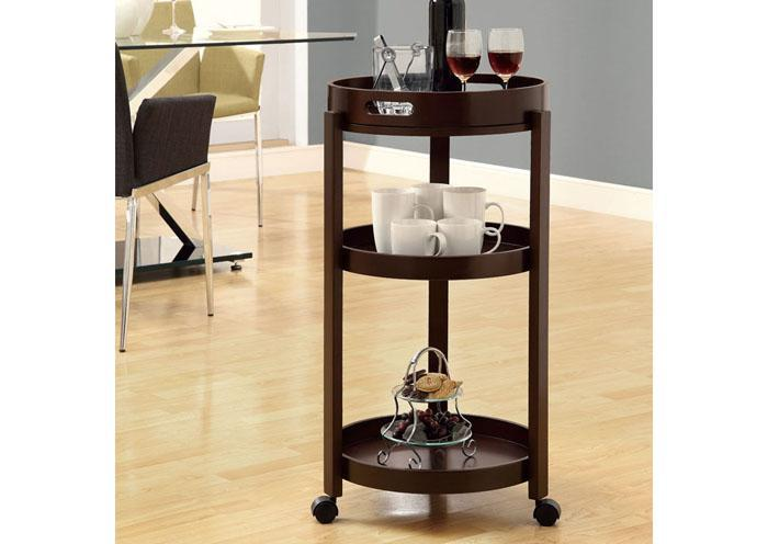 ADELE HOME BAR – CAPPUCCINO CART WITH A SERVING TRAY ON CASTORS,XLNC Xclusives