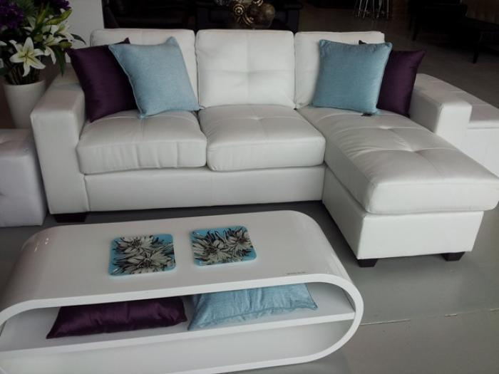BARCELONA 2 PIECE WHITE SECTIONAL ,XLNC Xclusives