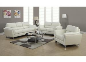 MONTANA 3 PIECE – IVORY BONDED LEATHER / MATCH