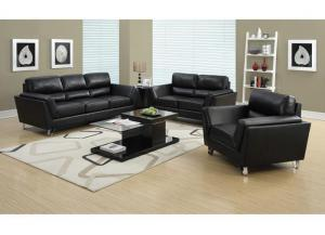 MONTANA 3 PIECE – BLACK BONDED LEATHER / MATCH