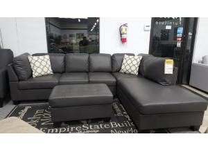 2 PIECE CASCADE SECTIONAL WITH OTTOMAN