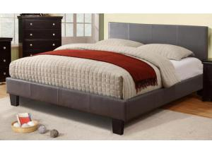 VOLT II QUEEN SIZE PLATFORM GREY BED FRAME