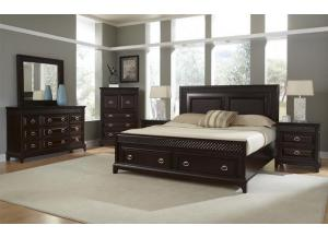 SONOMA BED FRAME, DRESSER, MIRROR, NIGHT STAND