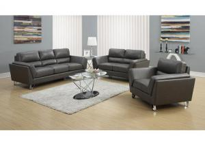 MONTANA 3 PIECE – GREY BONDED LEATHER / MATCH
