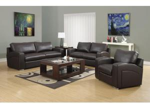 CAPITOL 3 PIECE BROWN BONDED LEATHER / MATCH
