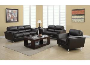 MONTANA 3 PIECE – BROWN BONDED LEATHER / MATCH