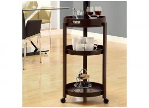 ADELE HOME BAR – CAPPUCCINO CART WITH A SERVING TRAY ON CASTORS