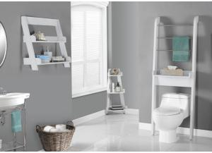 BATHROOM ACCENT – WHITE BATHROOM SPACE SAVER 3437