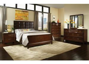 MELROSE BED FRAME, DRESSER, MIRROR, NIGHT STAND