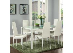 CONTRA WHITE 7 PIECE DINNING SET