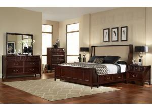 NEWPORT BED FRAME, DRESSER, MIRROR, NIGHT STAND