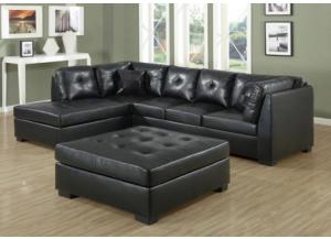RIO 2 PIECE BONDED LEATHER SECTIONAL