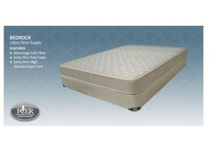 BEDROCK QUEEN SIZE MATTRESS AND BOXSPRING