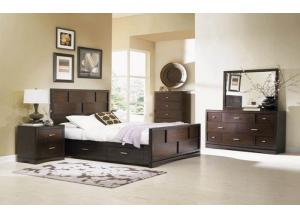 KEYWEST BED FRAME, DRESSER, MIRROR, NIGHT STAND