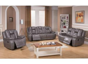 LAYTON RECLINING GENUINE LEATHER SOFA