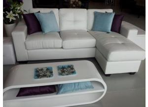 BARCELONA 2 PIECE WHITE SECTIONAL