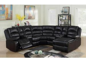 BORDEAUX 5 PC RECLINING SECTIONAL