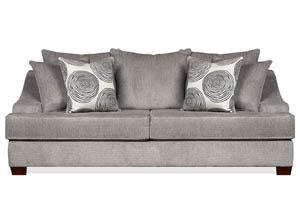 JJ's Oversized Smooth Grey Sofa