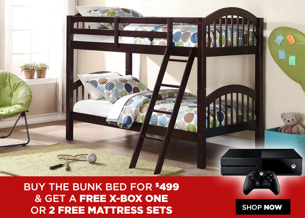 Bunk Bed & Free X-Box