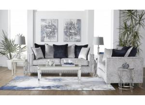 Image for Bliss Gray Sofa & Loveseat