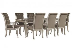 Birlanny Silver Dining Table w/4 Side Chairs