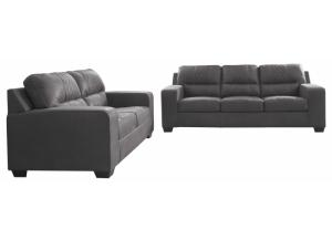 Narzole Gray Sofa & Loveseat