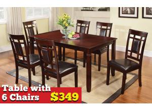 Table & 6 Chairs ,Circular Specials