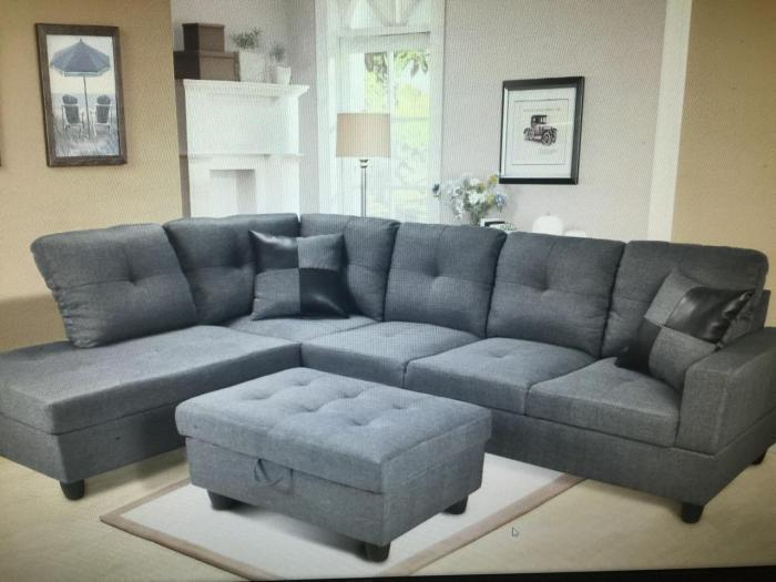 Gray Sectional,Beverly Furniture