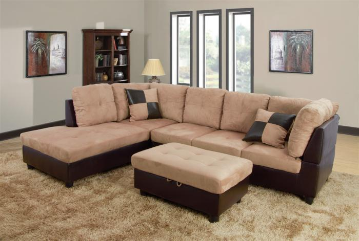 Biege Sectional ,Beverly Furniture