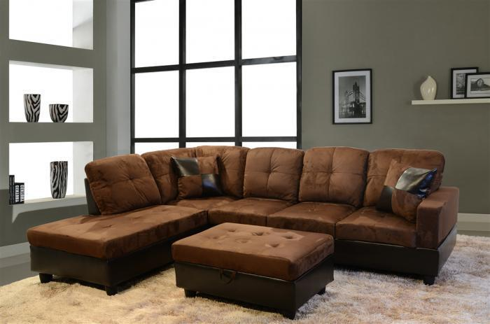 Brown Sectional,Beverly Furniture