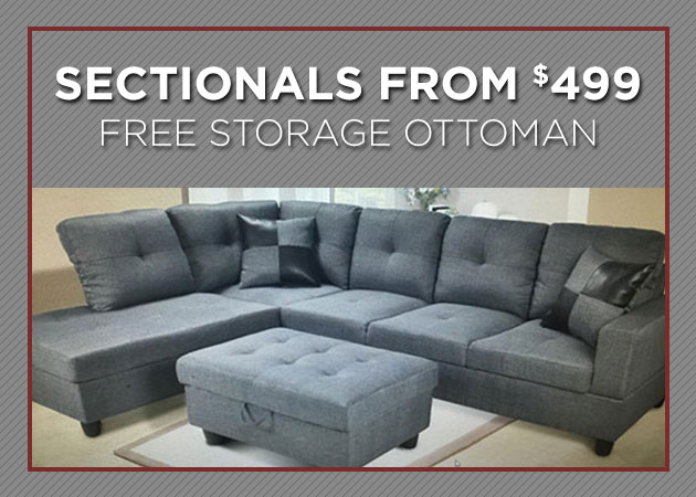Sectionals On Sale at Actionwood Home Furniture