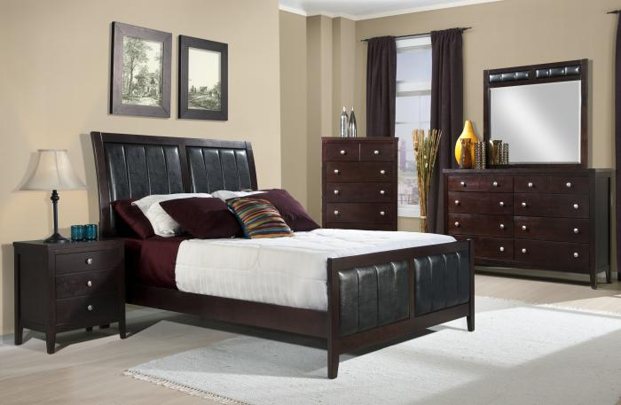 Lawrence Queen Headboard, Footboard, Rails, Dresser, and Mirror,Elements