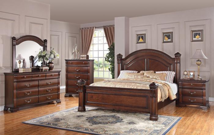 Isabella Queen Headboard, Footboard, Rails, Dresser, and Mirror ,Austin Group Furniture