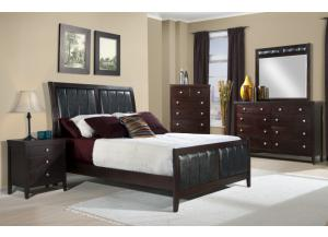 Lawrence Queen Headboard, Footboard, Rails, Dresser, and Mirror