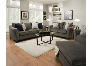 Albany Pewter Sofa and Loveseat