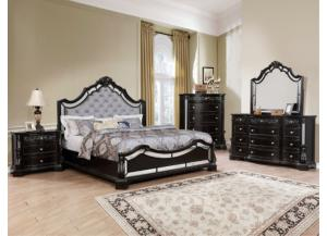 Bankston brown Queen bed,Dresser , Mirror & 1 night stand