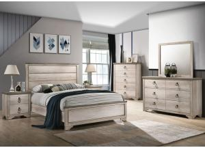Patterson Brown Queen Bed, Dresser,Mirror & 1 Nightstand